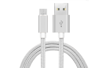 Micro USB Braided Phone Cable [Colour: Silver]