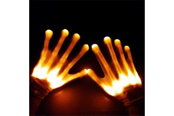 LED Gloves [Colour: Yellow]