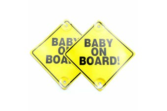 Baby on Board Car Sign - 2 pack