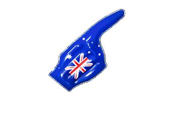 Aussie Inflatable Finger Hand
