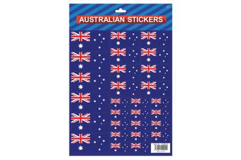 Australian Flag Stickers - Diff Sizes Aussie Flag