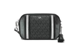 Michael Kors Signature Tricolor Camera Black/Grey/Charcoal Polyester Cross Body Bag