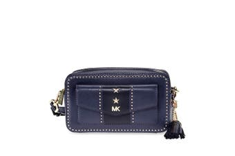 Michael Kors Whitney Small Pocket Camera Leather Bag Admiral/Black