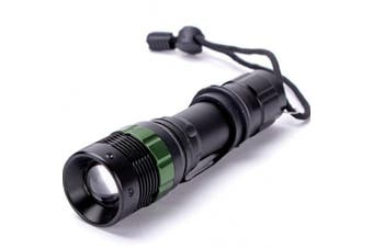 Power Style Cree LED Rechargeable Torch Zoom Flashlight 18000 Lumens
