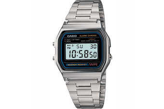 Casio A158WA-1 Classic Retro Vintage Stainless Steel Watch