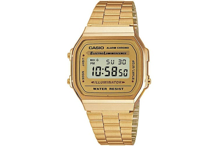 Casio A168WG-9 Classic Retro Vintage Stainless Steel Watch Gold