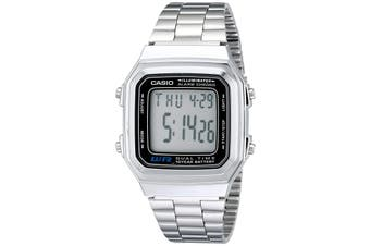 Casio A178WA-1A Classic Retro Vintage Stainless Steel Watch - Silver