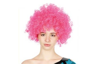 Afro Wig - Hot Pink