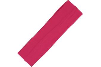 Wide Comfortable Stretch Yoga Sport Gym Cotton Headband Women Girl Kids - Hot Pink