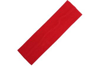 Wide Comfortable Stretch Yoga Sport Gym Cotton Headband Women Girl Kids - Red
