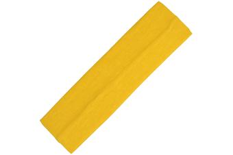 Wide Comfortable Stretch Yoga Sport Gym Cotton Headband Women Girl Kids - Yellow