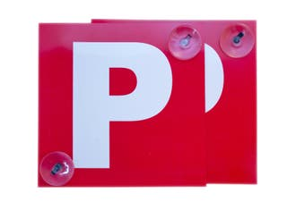 2 Pack Probationary Red Ps P Plates Suction Cups