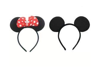 Mickey & Minnie Mouse Ears Headband - Mickey & Minnie Set