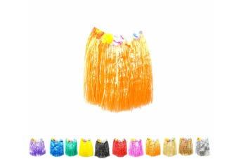 Hawaiian Hula Skirt - Orange