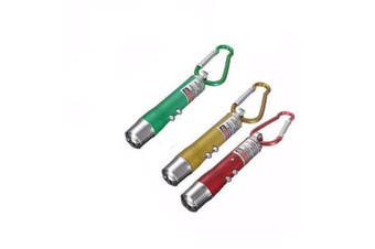 3 in 1 Red Laser Pointer Keychain - 3 Pack Party