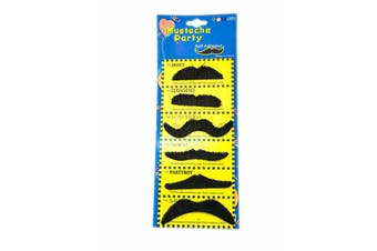 Self Adhesive Fake Moustache - 6 Pack