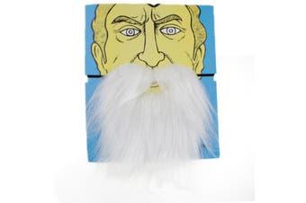Elastic Fake Beard - White