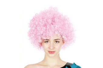 Afro Wig - Light Pink
