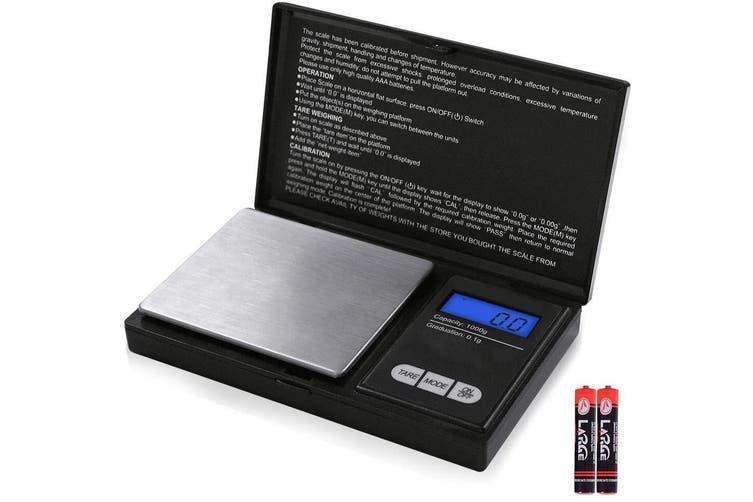 Medium Pocket Mini Digital Kitchen Scales Jewellery Electronic Herbs - 0.1g to 1000g
