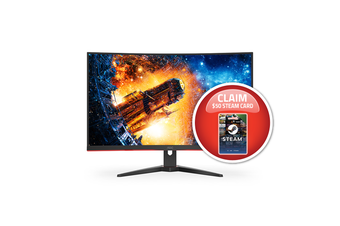 AOC C32G2E 31.5in 165Hz FHD 1ms FreeSync VA Curved Gaming Monitor