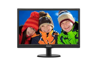 Philips V-Line 243V5QHABA 23.6in Full HD MVA Monitor with Speakers - Black