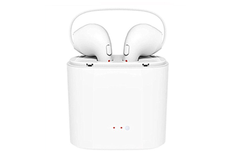 Wireless Headphones Headsets Stereo In-Ear Earpieces Earphones With Charging Box White