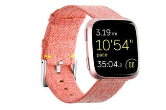 Newest Lightweight Breathable Woven Wristband Watch Band for Fitbit Versa Smart Watch Orange