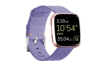 Newest Lightweight Breathable Woven Wristband Watch Band for Fitbit Versa Smart Watch Purple