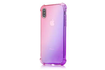 Slim Pink Purple Color Gradient Shock Absorption Protective Cases For Iphone 7/8Plus