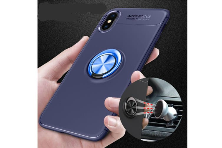 Heavy Duty Durable Soft Tpu Protective Case With Rotation Ring Kickstand for Iphonexs
