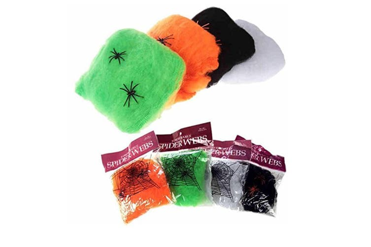 5Pcs Of Hot Stretchable Spider Web Decoration For Halloween Props