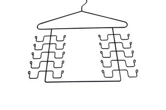 Pack Of 2 Magic Cloth Hanger Wonder Space Saving Hangers Metal Closet Organizer 2Pcs