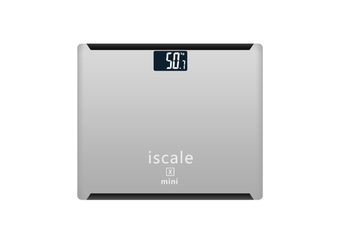"""Rechargeable Digital Body Weight Scale With Large 3. 0"""" Lcd Display Auto Technology Silver"""