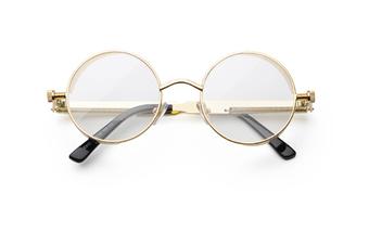 Gothic Steampunk Sunglasses For Women Men Round Lens Metal Frame