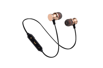 Magnetic Wireless Earbuds With Build-In Microphone Gold
