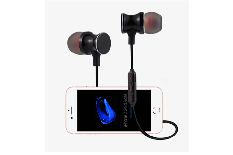 Magnetic Wireless Earbuds With Build-In Microphone Rose Gold