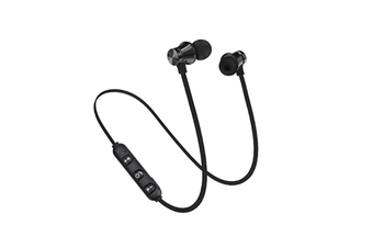 Workout Headphones Playback Noise Cancelling Headsets With Built-In Magnet Black