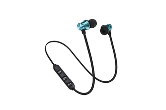 Workout Headphones Playback Noise Cancelling Headsets With Built-In Magnet Blue