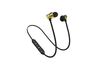 Workout Headphones Playback Noise Cancelling Headsets With Built-In Magnet Gold