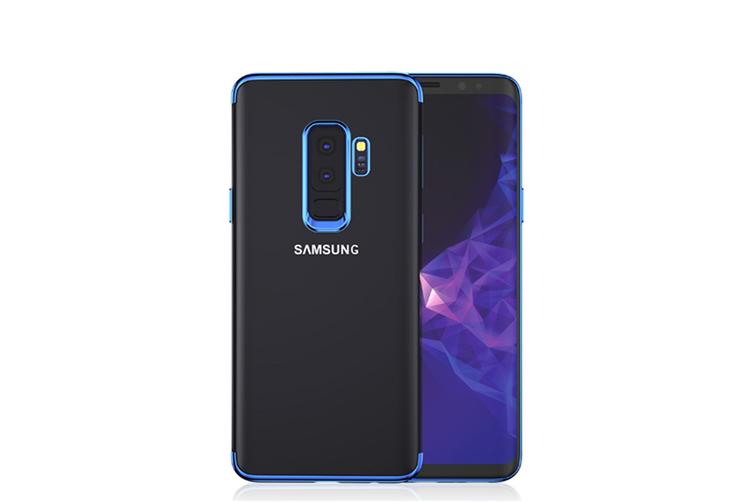 Soft Transparent Tpu Anti-Scratch Phone Case For Samsung Galaxy Blue Samsung A5 2018/A8 2018