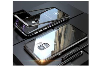 Magnetic Adsorption Phone Case Metal Back Glass Cover For Samsung Galaxy Black Samsung S9