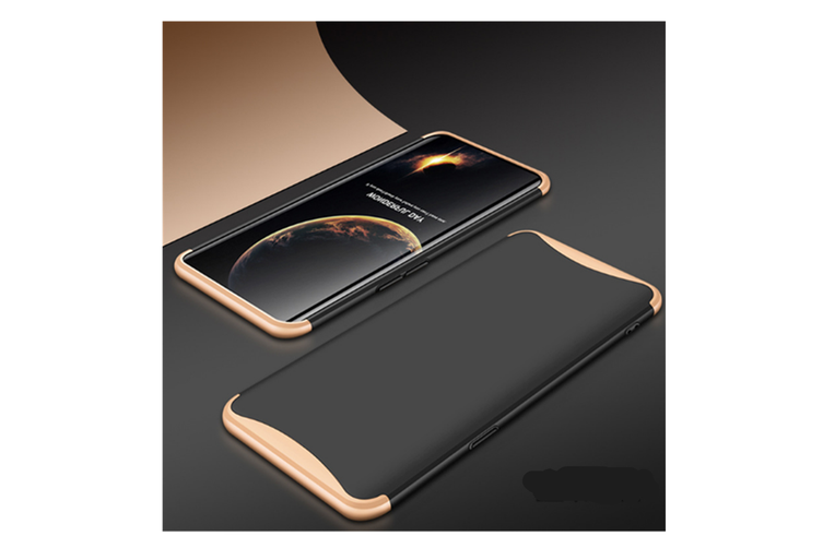 Frosted Shield Matte Plastic Ultra Thin Shockproof Case For Oppo Gold+Black R11S Plus
