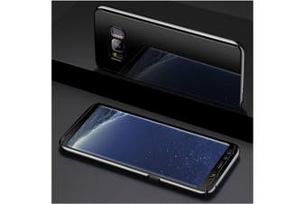 Mirror Cover Full Protective Scratchproof Flip Stand Case Shell For Samsung Black Samsung A7-2017