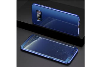 Mirror Cover Full Protective Scratchproof Flip Stand Case Shell For Samsung Blue Samsung S9 Plus