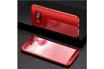 Mirror Cover Full Protective Scratchproof Flip Stand Case Shell For Samsung Red Samsung S9 Plus