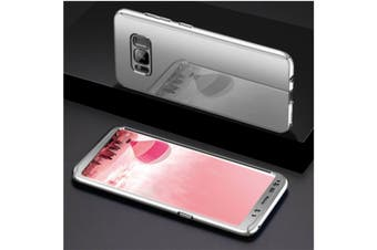 Mirror Cover Full Protective Scratchproof Flip Stand Case Shell For Samsung Silver Samsung S9 Plus