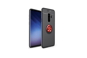 Ring Holder Kickstand Cover Soft Tpu Ultra Slim Case For Samsung Black+Red J6 2018 Euro Edition