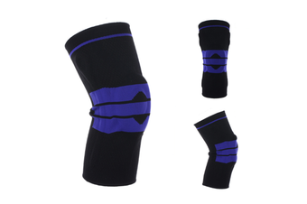 Knee Pads,Knitted Breathable Silicone Pad Knee Brace Compression SleeveBlack L