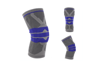 Knee Pads,Knitted Breathable Silicone Pad Knee Brace Compression SleeveSmoke Gray Xl