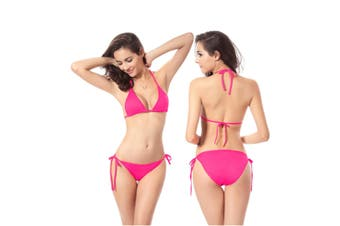 Beach Swimsuit Bikini Hoilday Summer Candy Color Swimwear For Women Rose Red Uniform Code